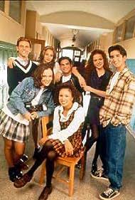 Jamie Elman, Jessica Goldapple, Ross Hull, Nicole Lyn, Kate McIninch, Miklos Perlus, and Mark Taylor in Student Bodies (1997)
