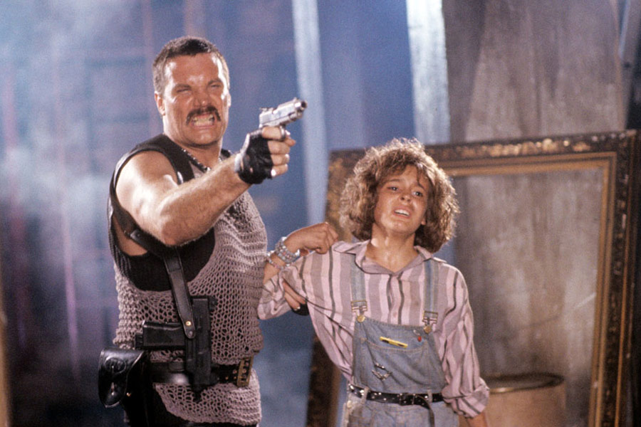 Alyssa Milano and Vernon Wells in Commando (1985)