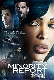 Wilmer Valderrama, Meagan Good, Stark Sands, and Nick Zano in Minority Report (2015)