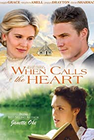 Maggie Grace, Stephen Amell, and Poppy Drayton in When Calls the Heart (2013)