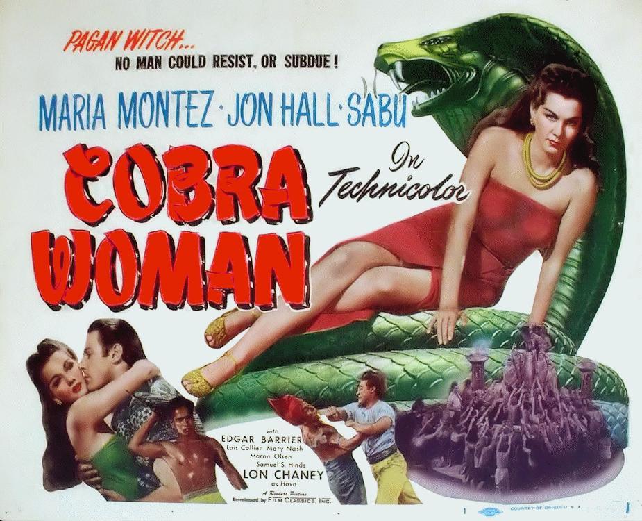 Jon Hall, Maria Montez, and Sabu in Cobra Woman (1944)