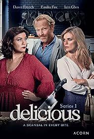Emilia Fox, Dawn French, and Iain Glen in Delicious (2016)