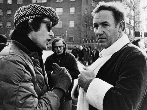 Gene Hackman and William Friedkin in The French Connection (1971)