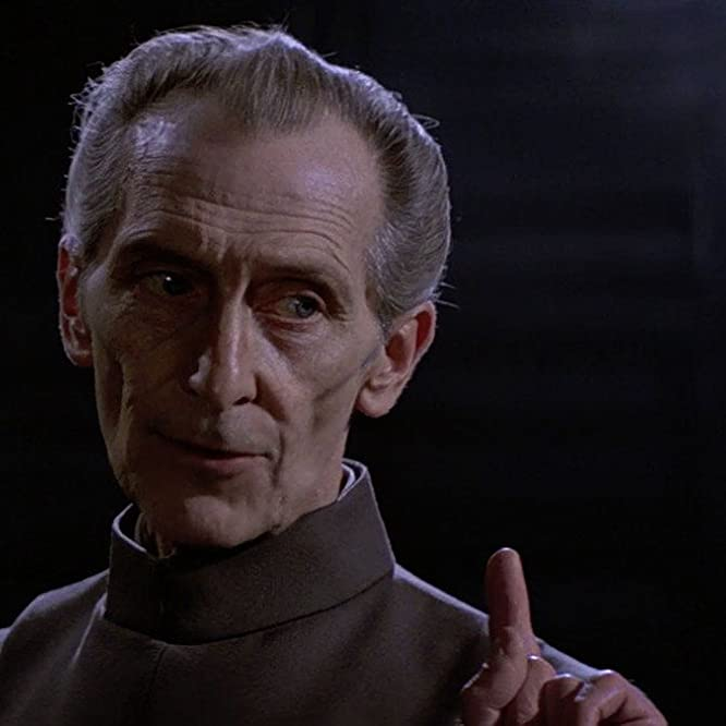Peter Cushing in Star Wars: Episode IV - A New Hope (1977)