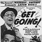 Barbara Jo Allen, Walter Catlett, Grace McDonald, and Robert Paige in Get Going (1943)