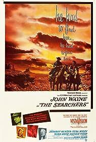 John Wayne, Natalie Wood, Ward Bond, Jeffrey Hunter, and Vera Miles in The Searchers (1956)