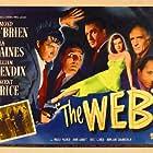 William Bendix, Vincent Price, John Abbott, Fritz Leiber, Edmond O'Brien, and Ella Raines in The Web (1947)
