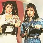 Sridevi and Kimi Katkar in Sone Pe Suhaaga (1988)