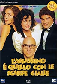 Roberto Ciufoli, Francesca Draghetti, Tiziana Foschi, and Pino Insegno in L'assassino è quello con le scarpe gialle (1995)