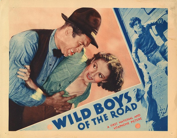 Ward Bond and Ann Hovey in Wild Boys of the Road (1933)