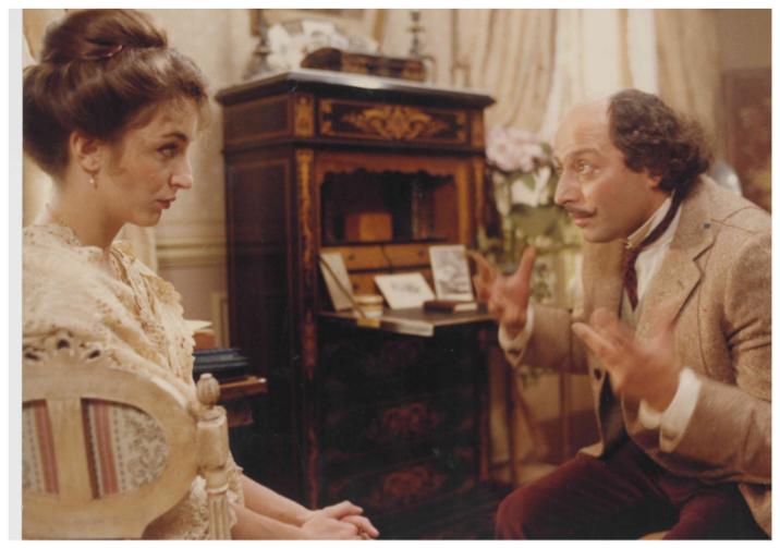 Roland Blanche and Christine Pascal in Elle voulait faire du cinéma (1983)