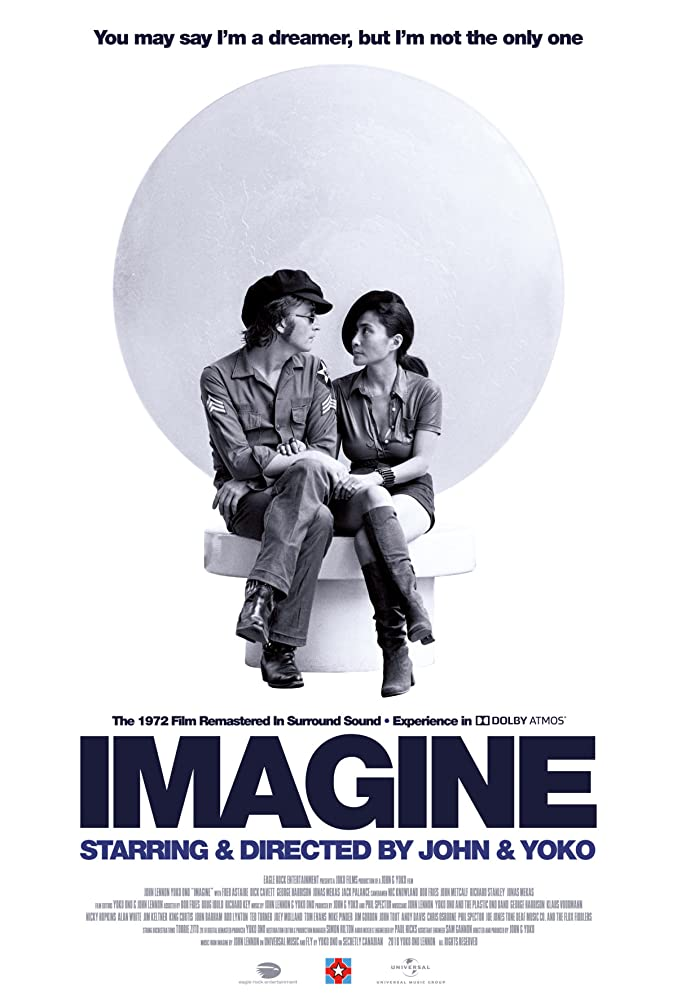 John Lennon and Yoko Ono in Imagine (1972)