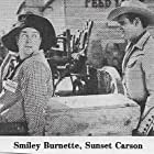 Smiley Burnette and Sunset Carson in Code of the Prairie (1944)
