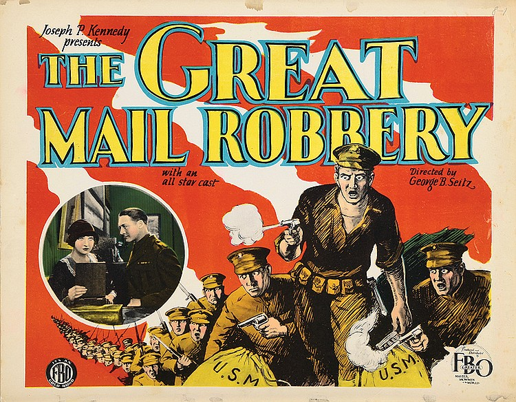Jean Fenwick and Theodore von Eltz in The Great Mail Robbery (1927)