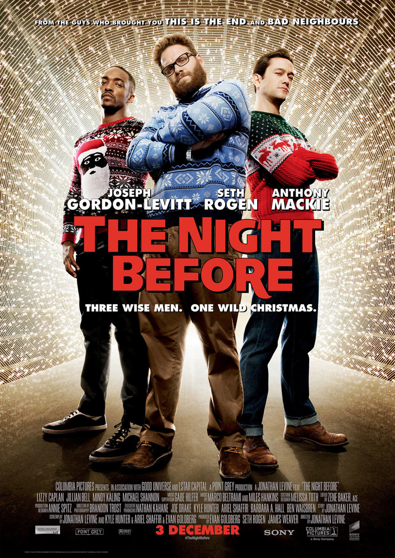 Image result for the night before movie poster