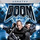 Dwayne Johnson, Deobia Oparei, and Karl Urban in Doom (2005)
