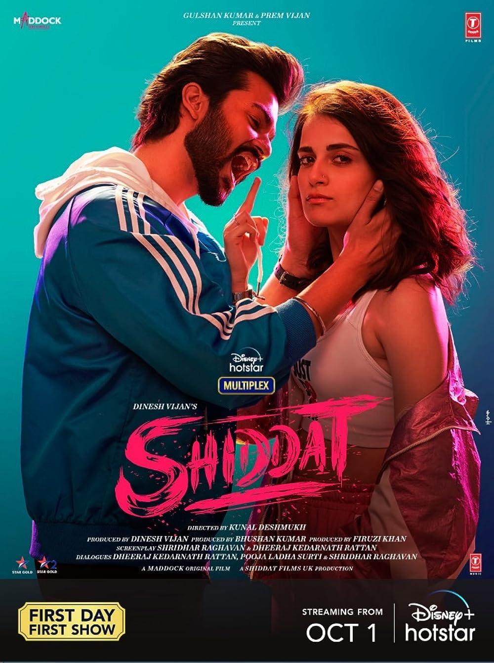 Shiddat 2021 Hindi Movie Official Trailer 1080p DSNP HDRip 31MB Download