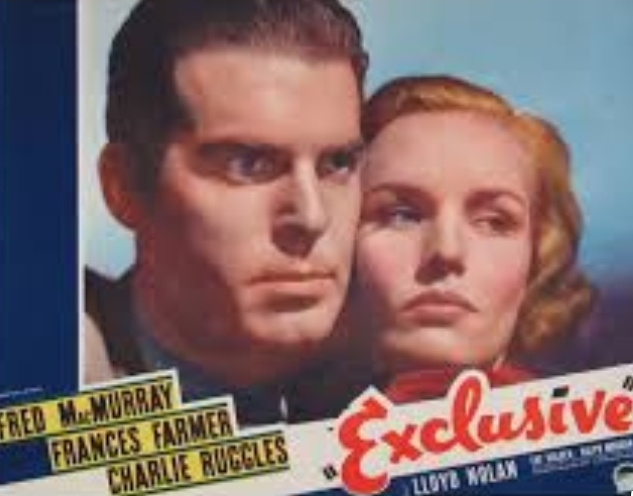 Frances Farmer and Fred MacMurray in Exclusive (1937)