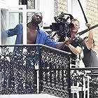 Idris Elba and Philipp Blaubach on the set of 100 Streets