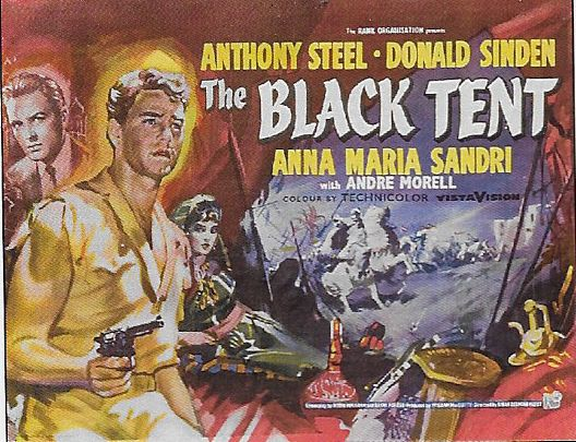Donald Sinden and Anthony Steel in The Black Tent (1956)