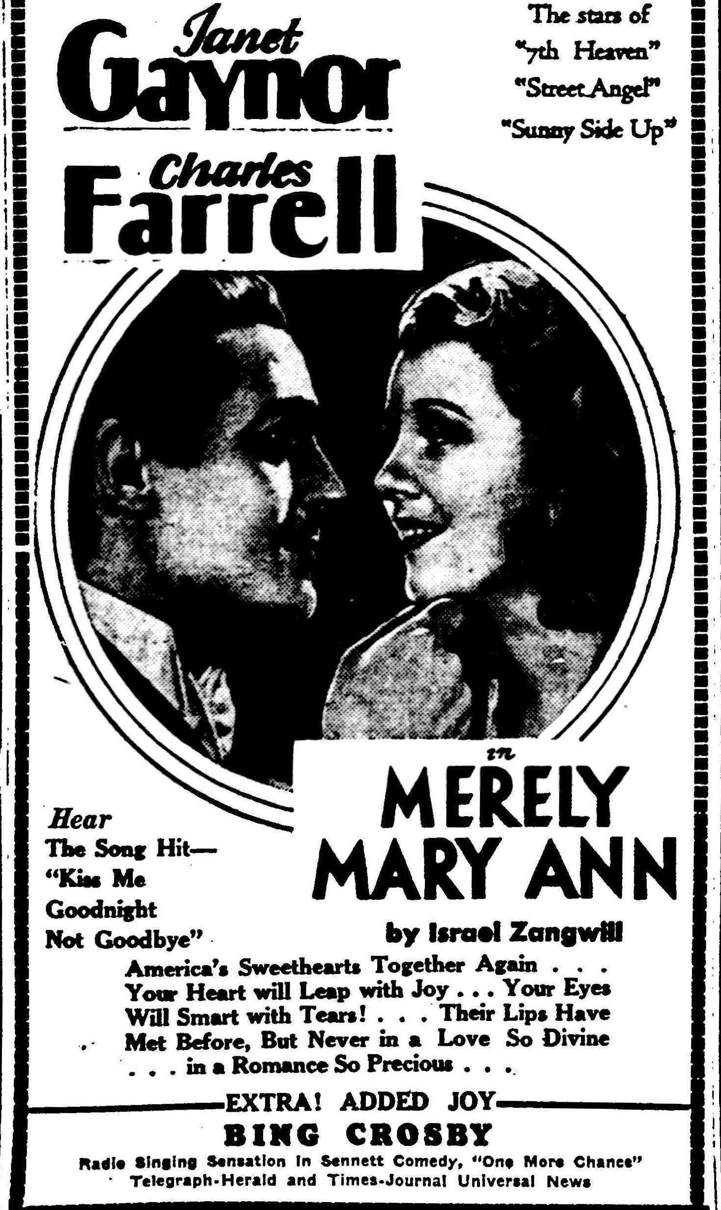 Merely Mary Ann (1931) - IMDb