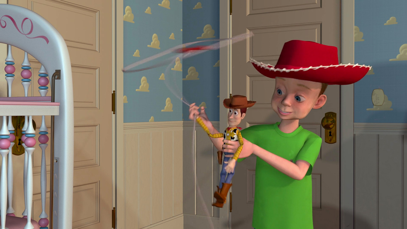 Tom Hanks and John Morris in Toy Story (1995)