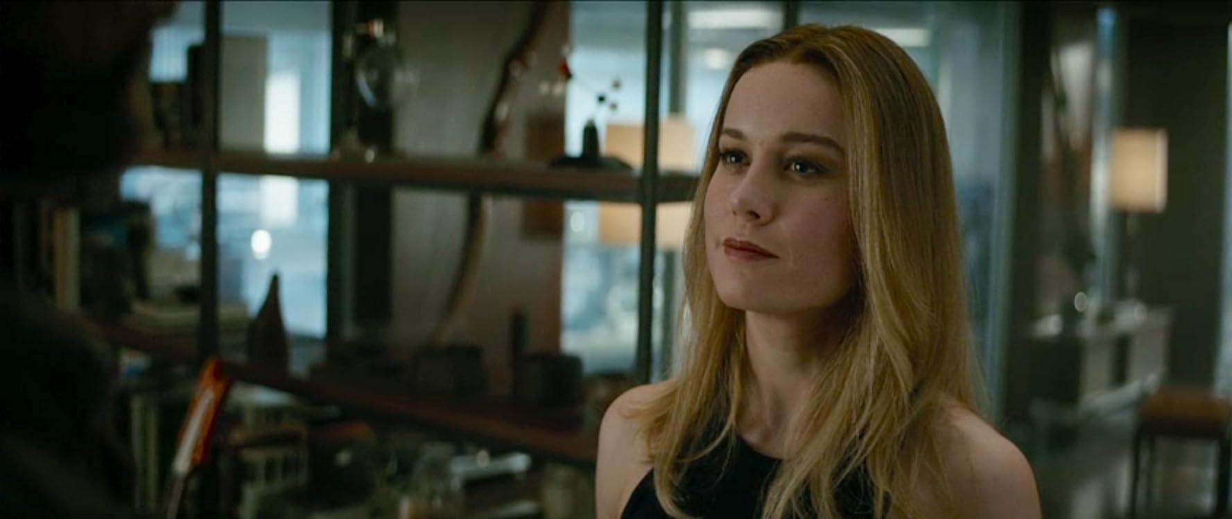 Brie Larson and Chris Hemsworth in Avengers: Endgame (2019)
