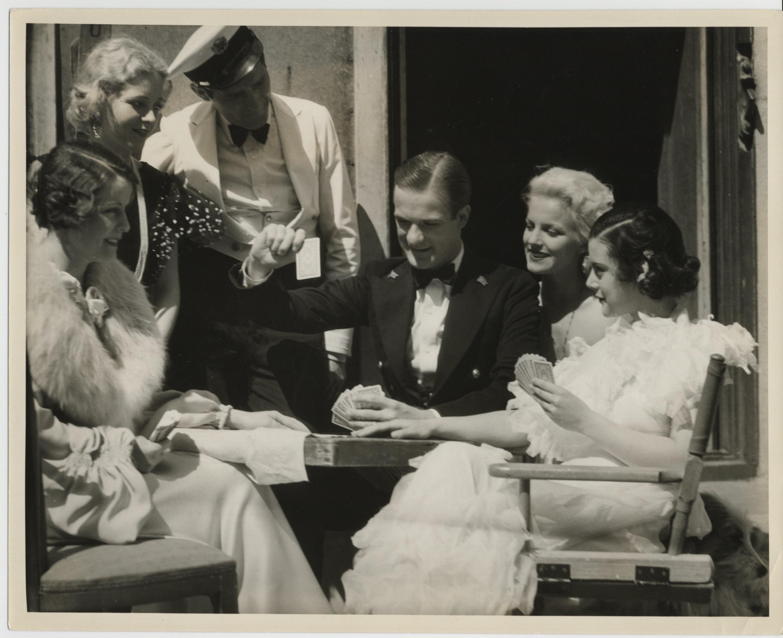 June Brewster, Shirley Chambers, Chick Chandler, Helen Mack, and Greta Nissen in Melody Cruise (1933)
