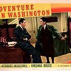 Herbert Marshall and Charles Smith in Adventure in Washington (1941)