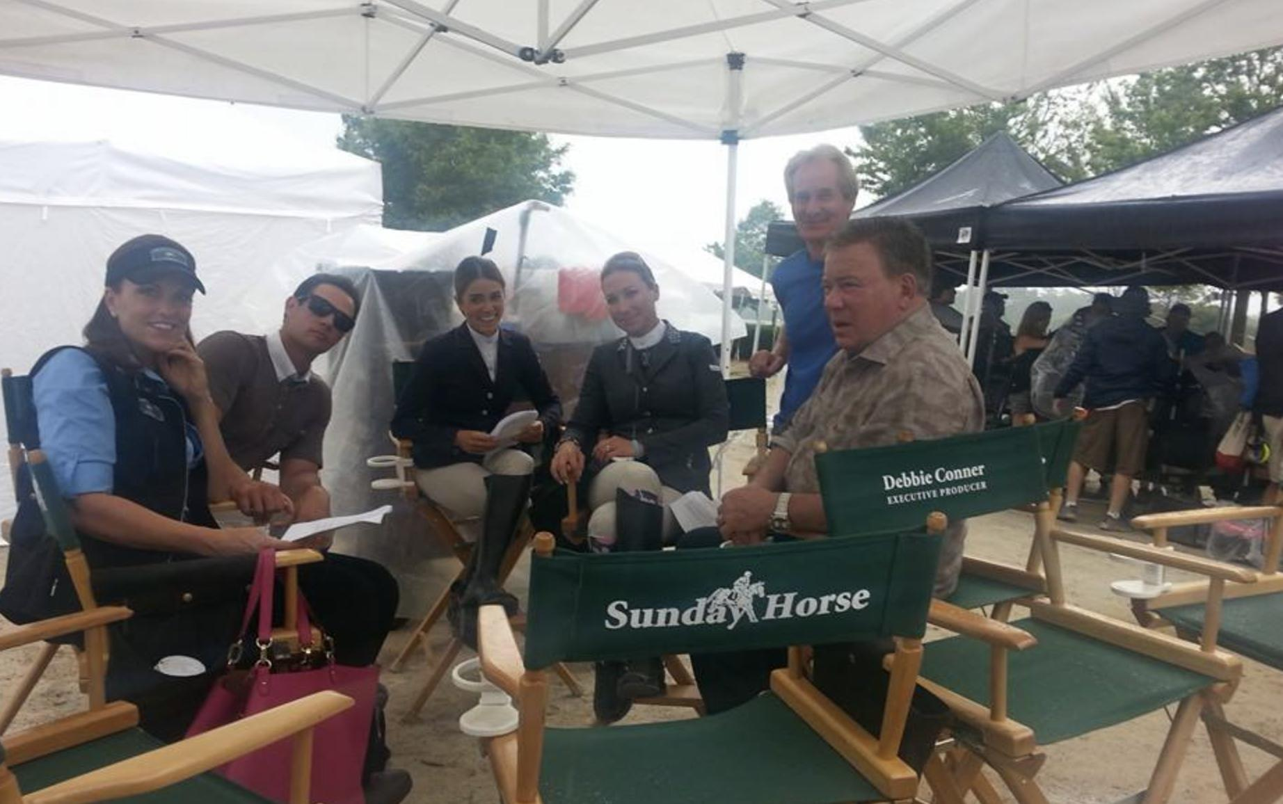 William Shatner, Georgina Armstrong, Ronnie D. Clemmer, Ryan Merriman, Nikki Reed, and Mandy June Turpin in A Sunday Horse (2016)