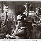 Carmen Miranda, Vivian Blaine, Stephen Dunne, and Dennis O'Keefe in Doll Face (1945)