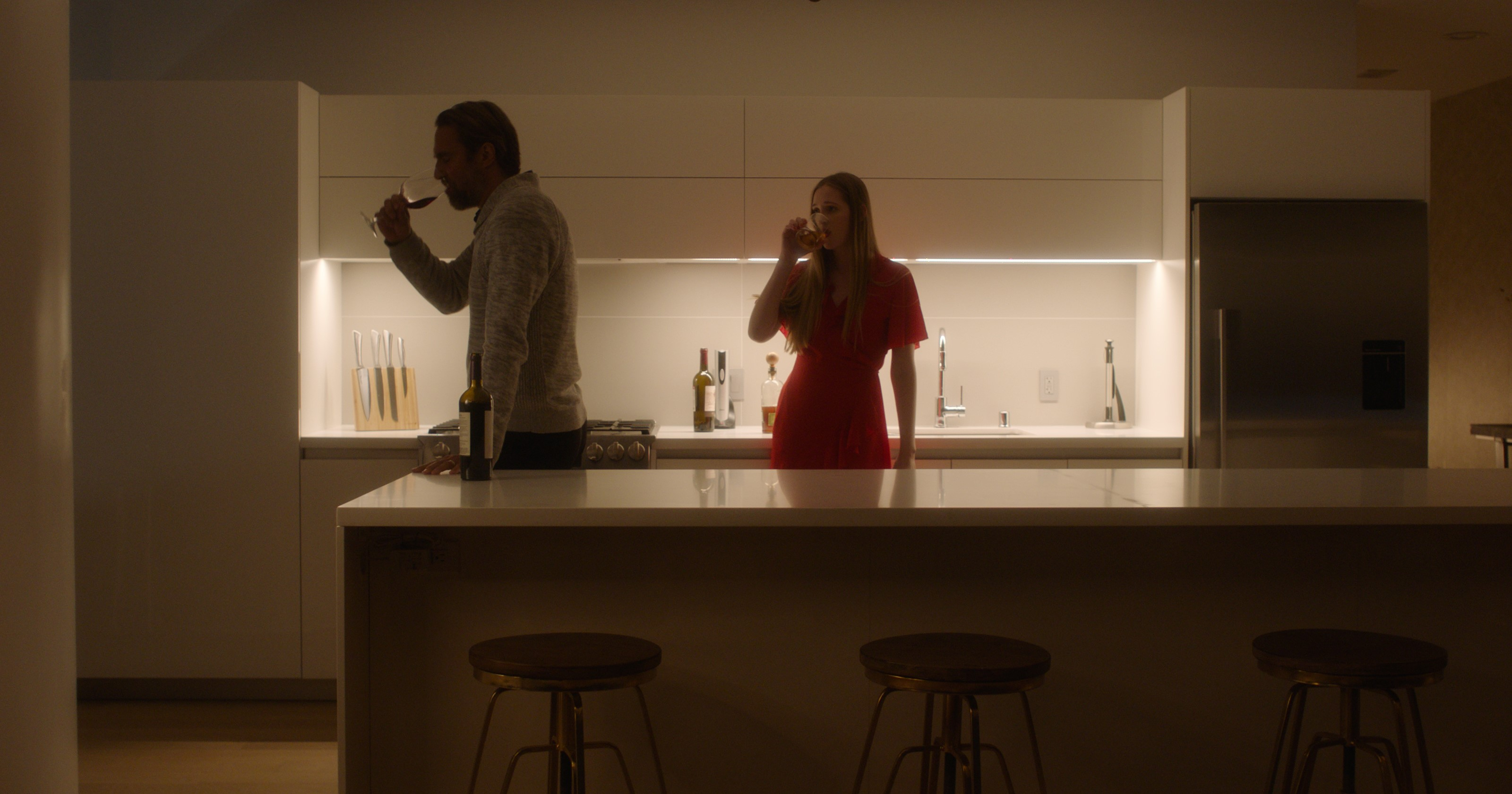 Lukas Hassel and Lizinke Kruger in Hermit (2020)