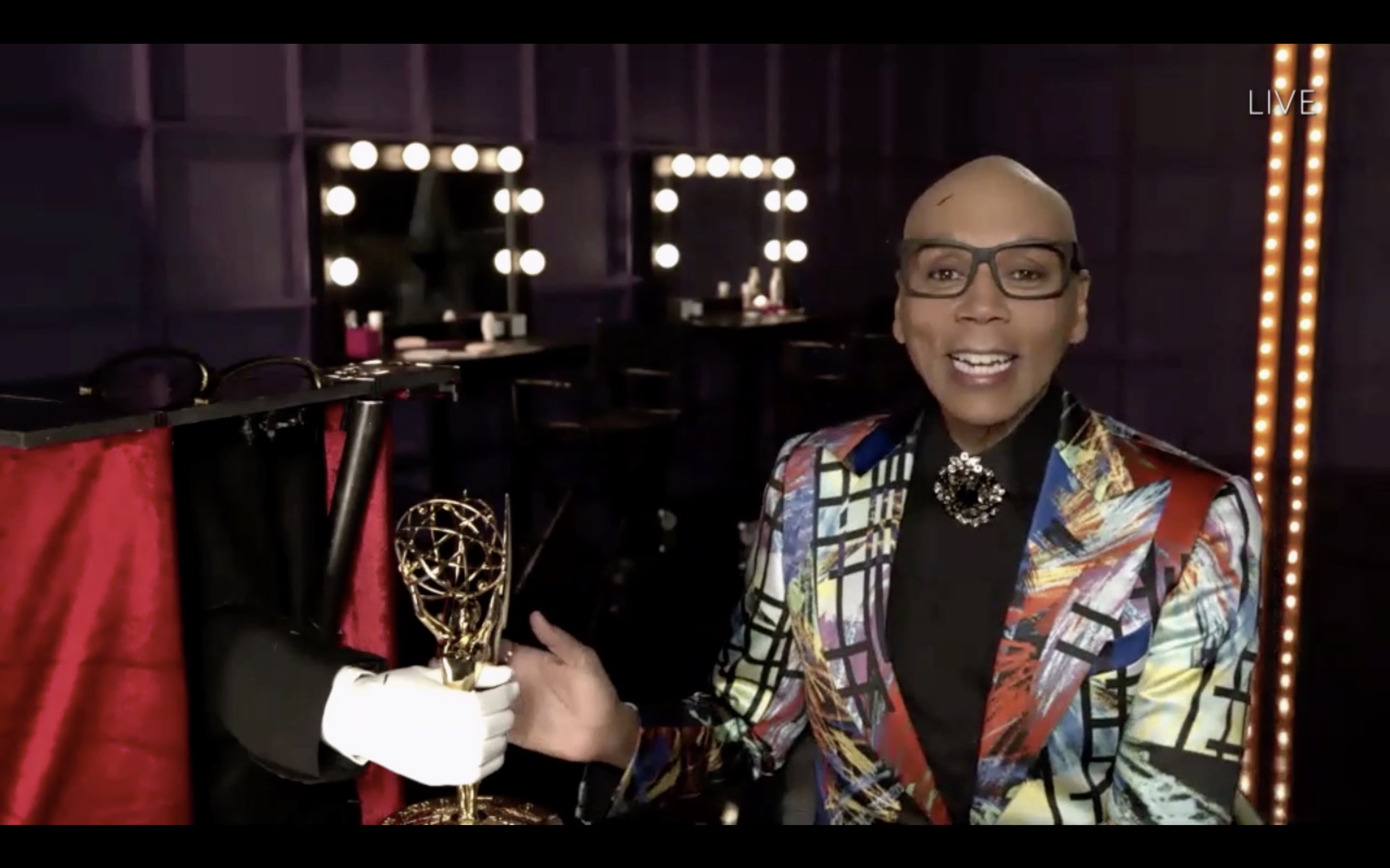 RuPaul at an event for The 72nd Primetime Emmy Awards (2020)