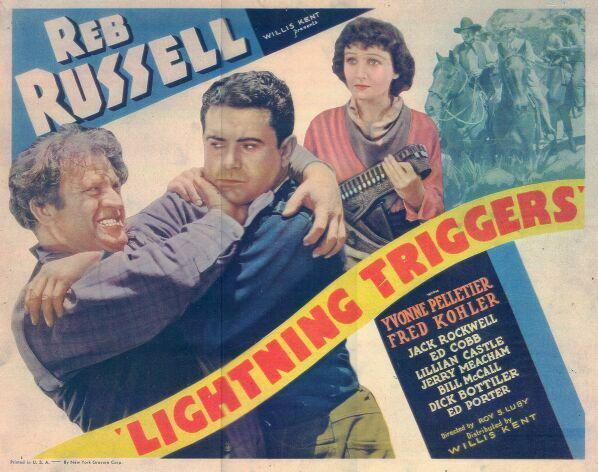 Fred Kohler, Yvonne Pelletier, and Reb Russell in Lightning Triggers (1935)