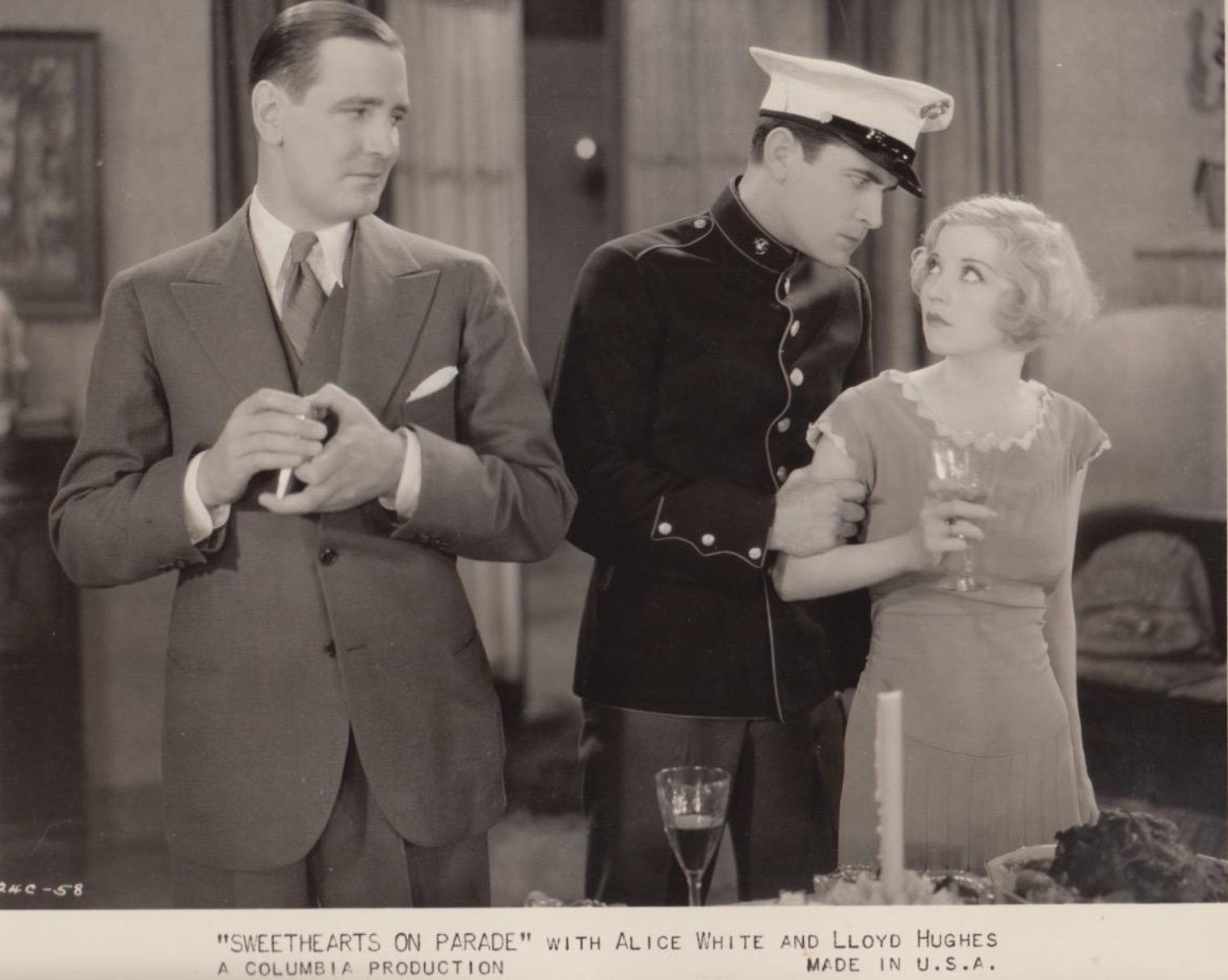 Lloyd Hughes, Kenneth Thomson, and Alice White in Sweethearts on Parade (1930)