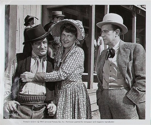 Bud Abbott, Lou Costello, and Marjorie Main in The Wistful Widow of Wagon Gap (1947)