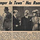Irving Bacon, Richard Carlson, Frank Morgan, Jean Rogers, and Andrew Tombes in A Stranger in Town (1943)