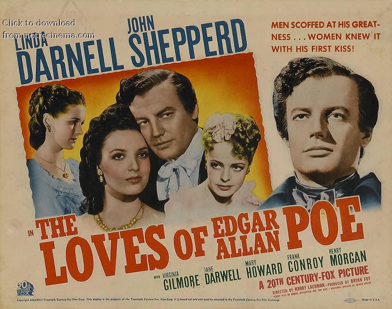 Linda Darnell, Virginia Gilmore, Mary Howard, and Shepperd Strudwick in The Loves of Edgar Allan Poe (1942)
