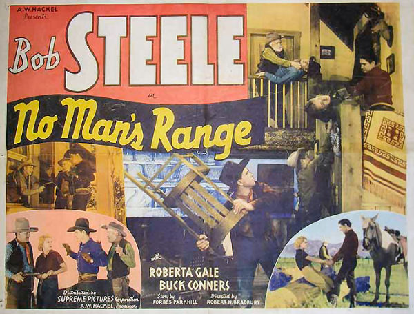 Ed Cassidy, Steve Clark, Buck Connors, Art Dillard, Roberta Gale, and Bob Steele in No Man's Range (1935)