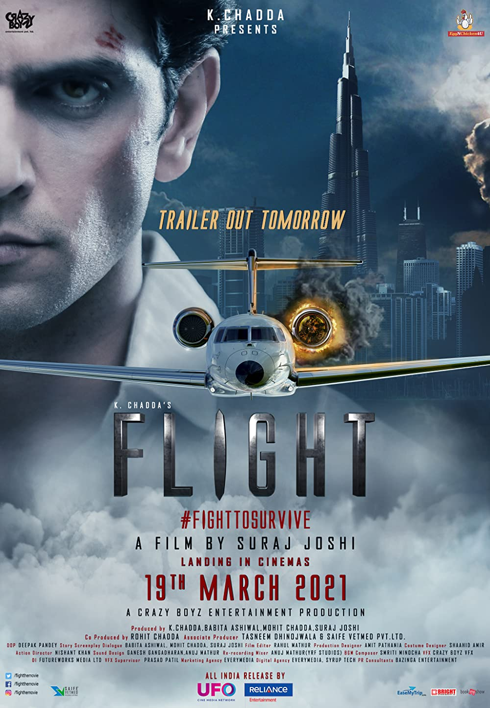 Download Flight 2021 Hindi 720p HQ PreDVDRip 870MB