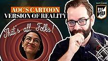 Versión de dibujos animados de realidad de AOC
