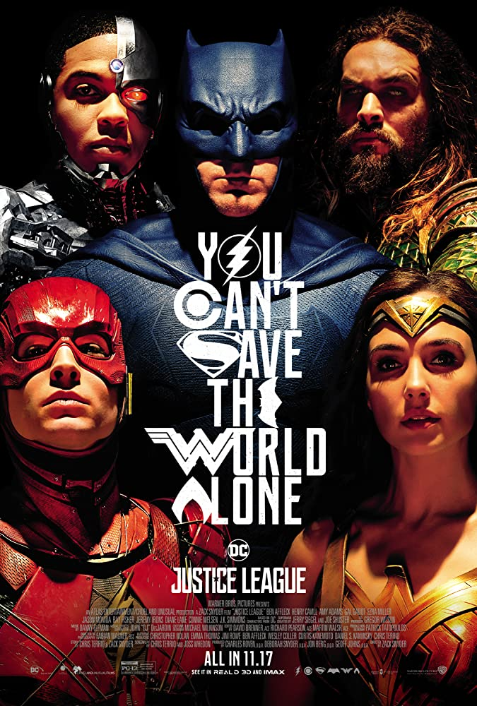 Ben Affleck, Jeremy Irons, Amy Adams, Henry Cavill, Jason Momoa, Gal Gadot, Ezra Miller, and Ray Fisher in Justice League (2017)