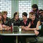 Craig Sheffer, Pia Zadora, Marshall Rohner, Wizzard Elliott, Spyder Mittleman, Jeffrey Cranford, and Jimmy Haddox in Voyage of the Rock Aliens (1984)
