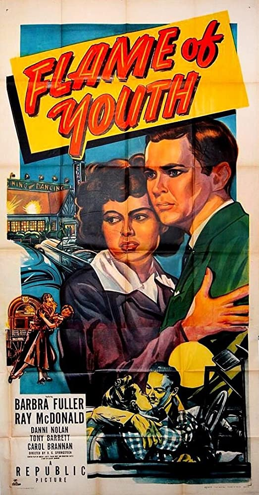 Tony Barrett, Barbra Fuller, Ray McDonald, and Danni Sue Nolan in Flame of Youth (1949)