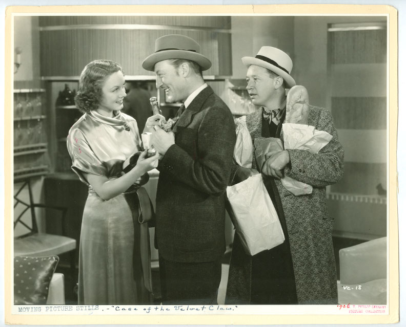 Eddie Acuff, Claire Dodd, and Warren William in The Case of the Velvet Claws (1936)