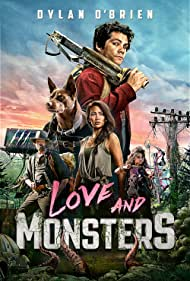 Michael Rooker, Jessica Henwick, Dylan O'Brien, and Ariana Greenblatt in Love and Monsters (2020)