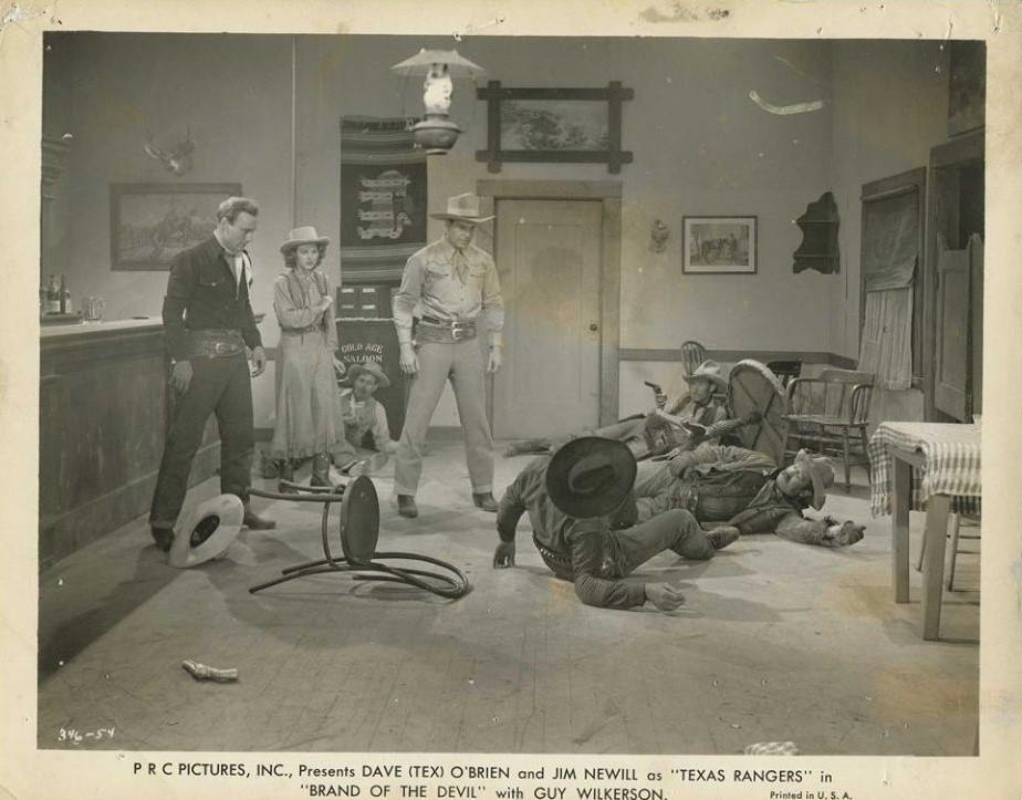 Ellen Hall, Reed Howes, Charles King, James Newill, Dave O'Brien, and Guy Wilkerson in Brand of the Devil (1944)
