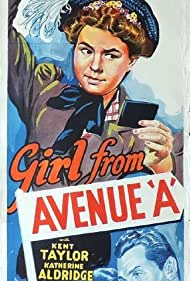 Kay Aldridge, Kent Taylor, and Jane Withers in Girl from Avenue A (1940)