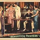 Marion Burns, Creighton Hale, Juanita Hansen, Arline Judge, and Kenneth MacKenna in Sensation Hunters (1933)