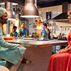 Dhanush and Erin Moriarty in The Extraordinary Journey of the Fakir (2018)